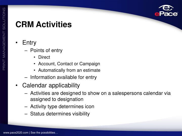 CRM Activities