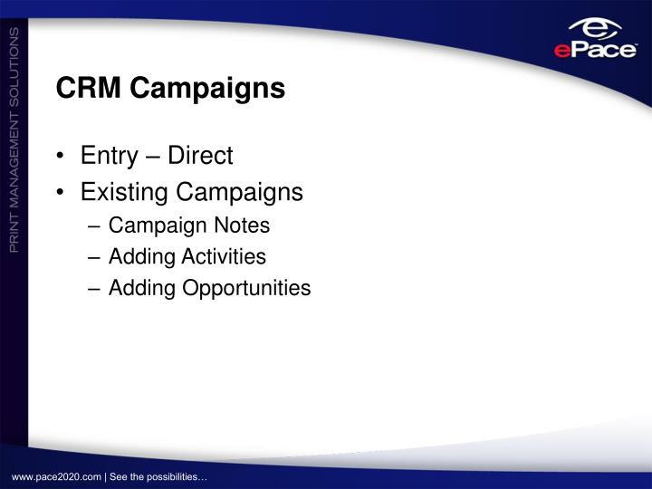 CRM Campaigns