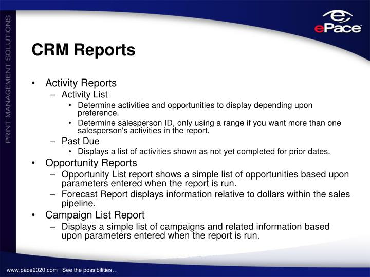 CRM Reports