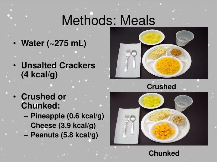 Methods: Meals