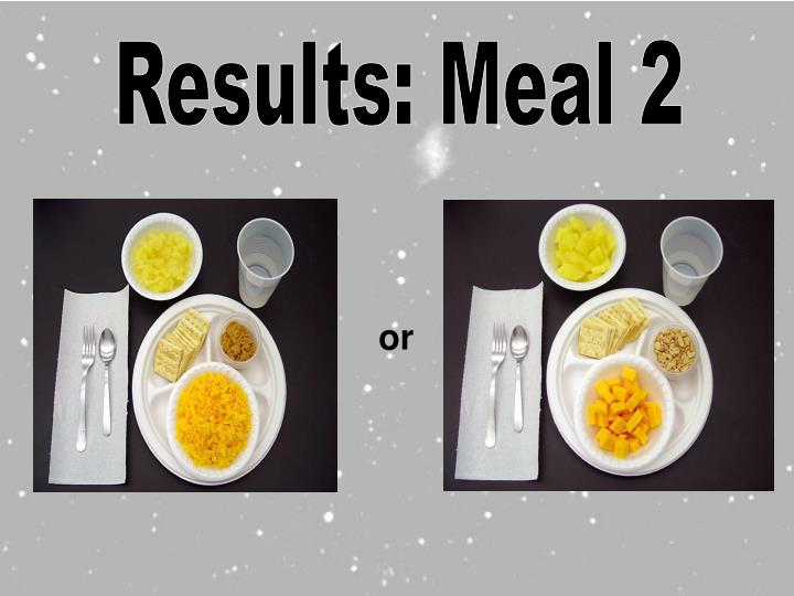 Results: Meal 2