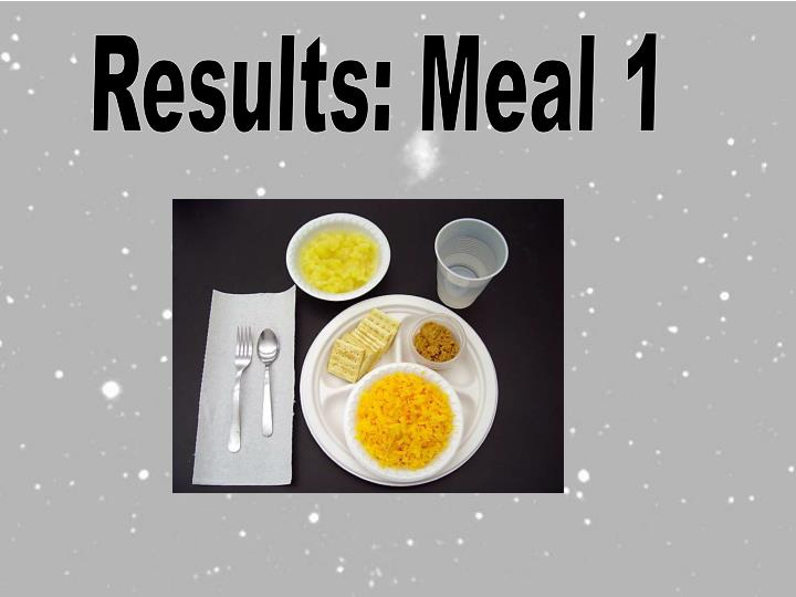 Results: Meal 1