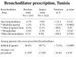 bronchodilator prescription tunisia
