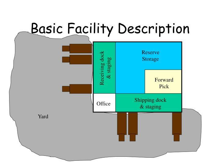 Basic Facility Description
