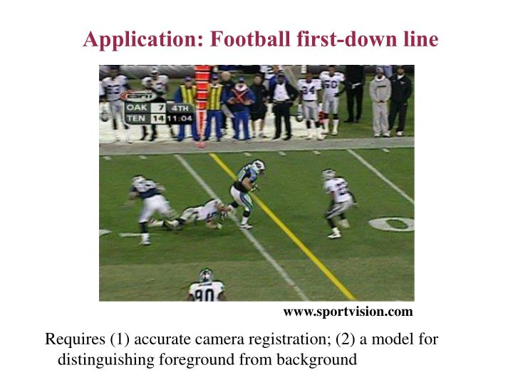 Application: Football first-down line