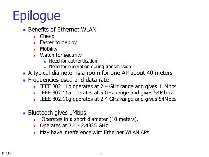 Benefits of Ethernet WLAN