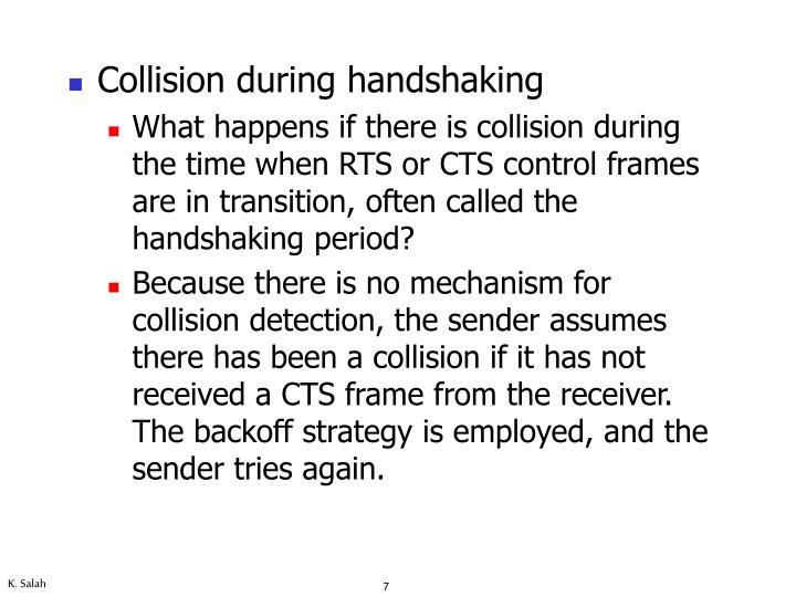 Collision during handshaking