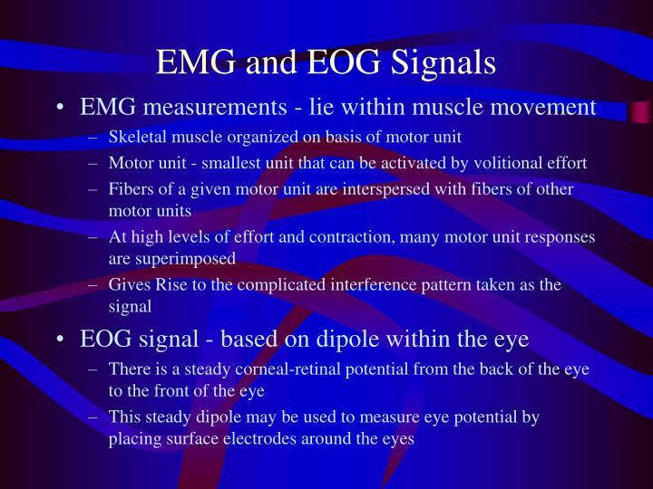 EMG and EOG Signals