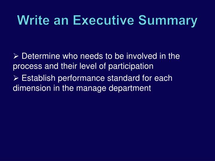 Determine who needs to be involved in the process and their level of participation