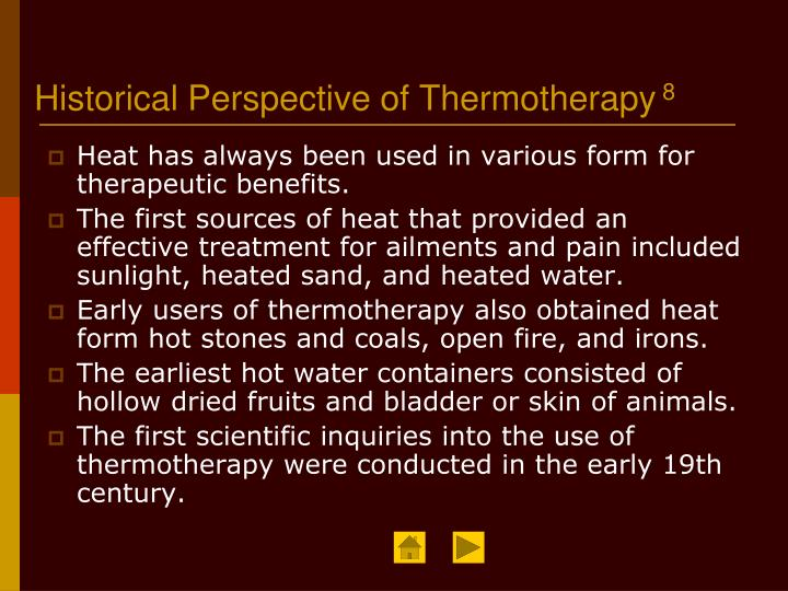 Historical Perspective of Thermotherapy