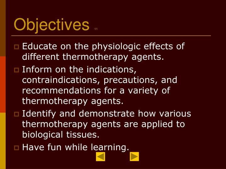 Objectives 11