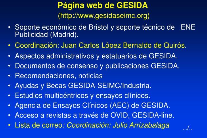 Página web de GESIDA