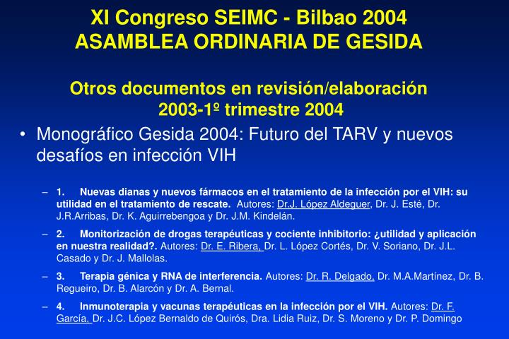 XI Congreso SEIMC - Bilbao 2004