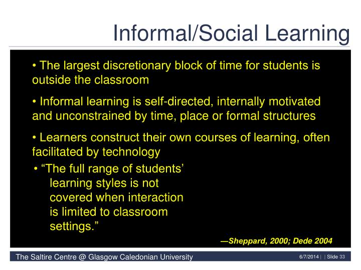 Informal/Social Learning