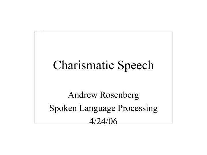charismatic speech