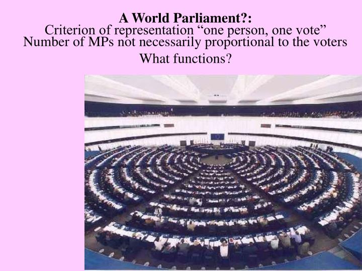 A World Parliament?: