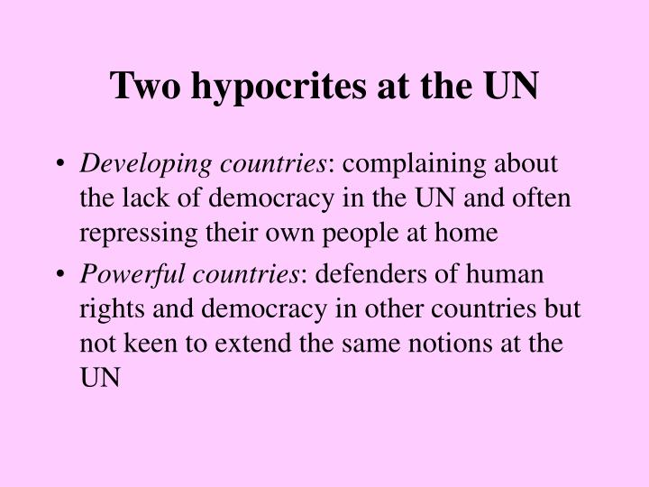 Two hypocrites at the UN