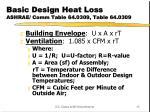 basic design heat loss ashrae comm table 64 0309 table 64 0309
