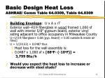 basic design heat loss ashrae comm table 64 0309 table 64 03091