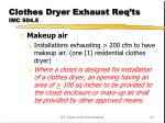 clothes dryer exhaust req ts imc 504 5