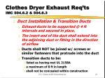 clothes dryer exhaust req ts imc 504 6 2 504 6 3