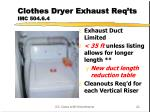 clothes dryer exhaust req ts imc 504 6 4
