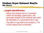 clothes dryer exhaust req ts imc 504 6 5