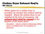 clothes dryer exhaust req ts imc 504 6 6