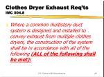 clothes dryer exhaust req ts imc 504 8