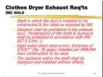 clothes dryer exhaust req ts imc 504 81