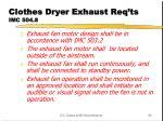 clothes dryer exhaust req ts imc 504 82