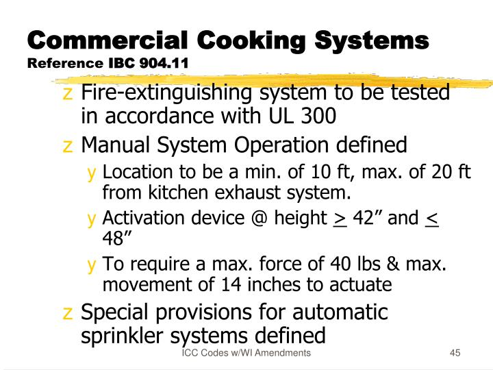 Commercial Cooking Systems