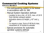 commercial cooking systems reference ibc 904 11