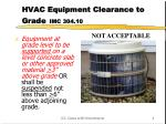 hvac equipment clearance to grade imc 304 10