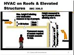 hvac on roofs elevated structures imc 306 5