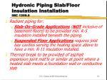 hydronic piping slab floor insulation installation imc 1209 5