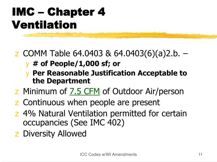 IMC – Chapter 4