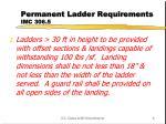 permanent ladder requirements imc 306 5