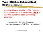 type i kitchen exhaust duct req ts imc 506 3 10 4