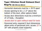 type i kitchen hood exhaust duct reqr ts imc 506 3 8 506 3 9