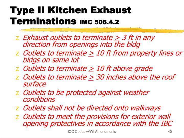 Type II Kitchen Exhaust Terminations