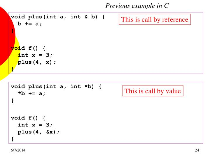 Previous example in C