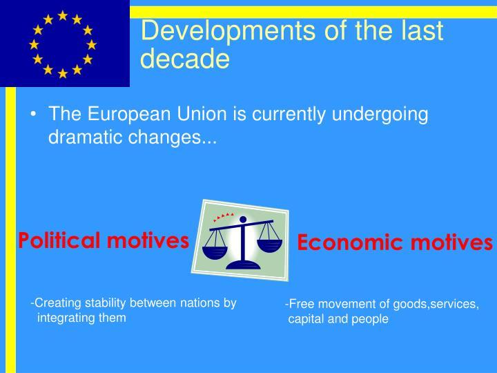 Developments of the last decade