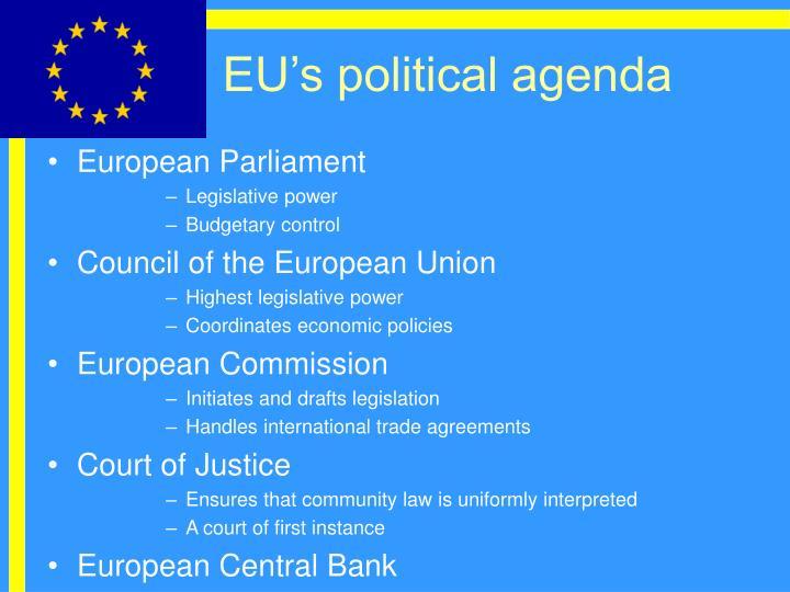 EU's political agenda
