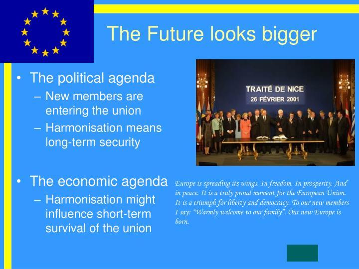 The Future looks bigger