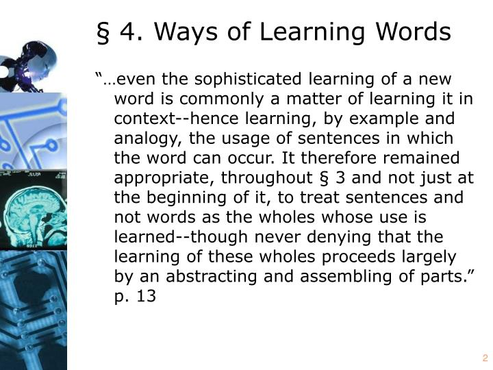§ 4. Ways of Learning Words