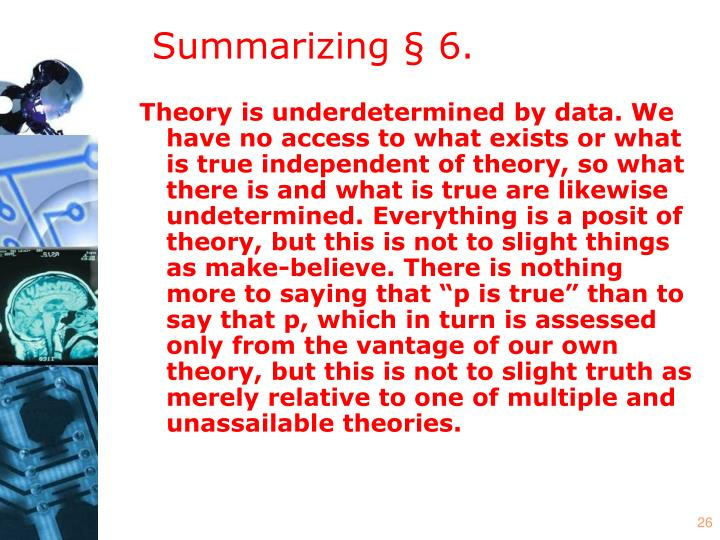 Summarizing § 6.