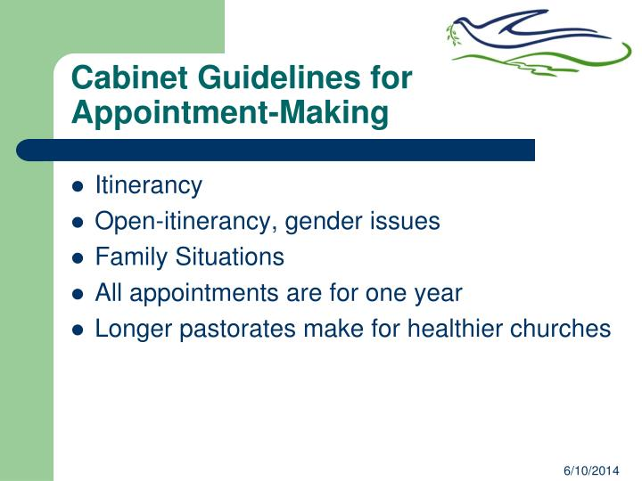 Cabinet Guidelines for Appointment-Making