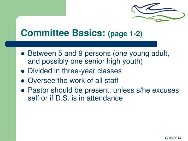 Committee Basics: