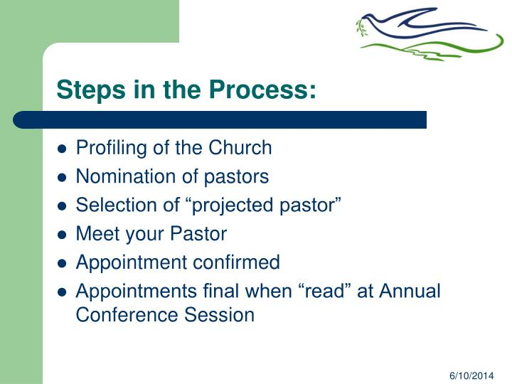 Steps in the Process: